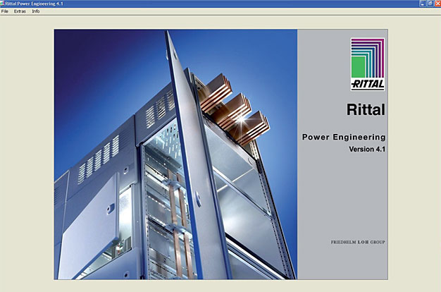 Strona startowa programu Rittal - Power Engineering