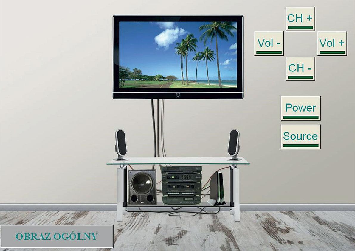 Rys. 1. Ekran wizualizacji i sterowania systemem audio/video za pośrednictwem systemu KNX.