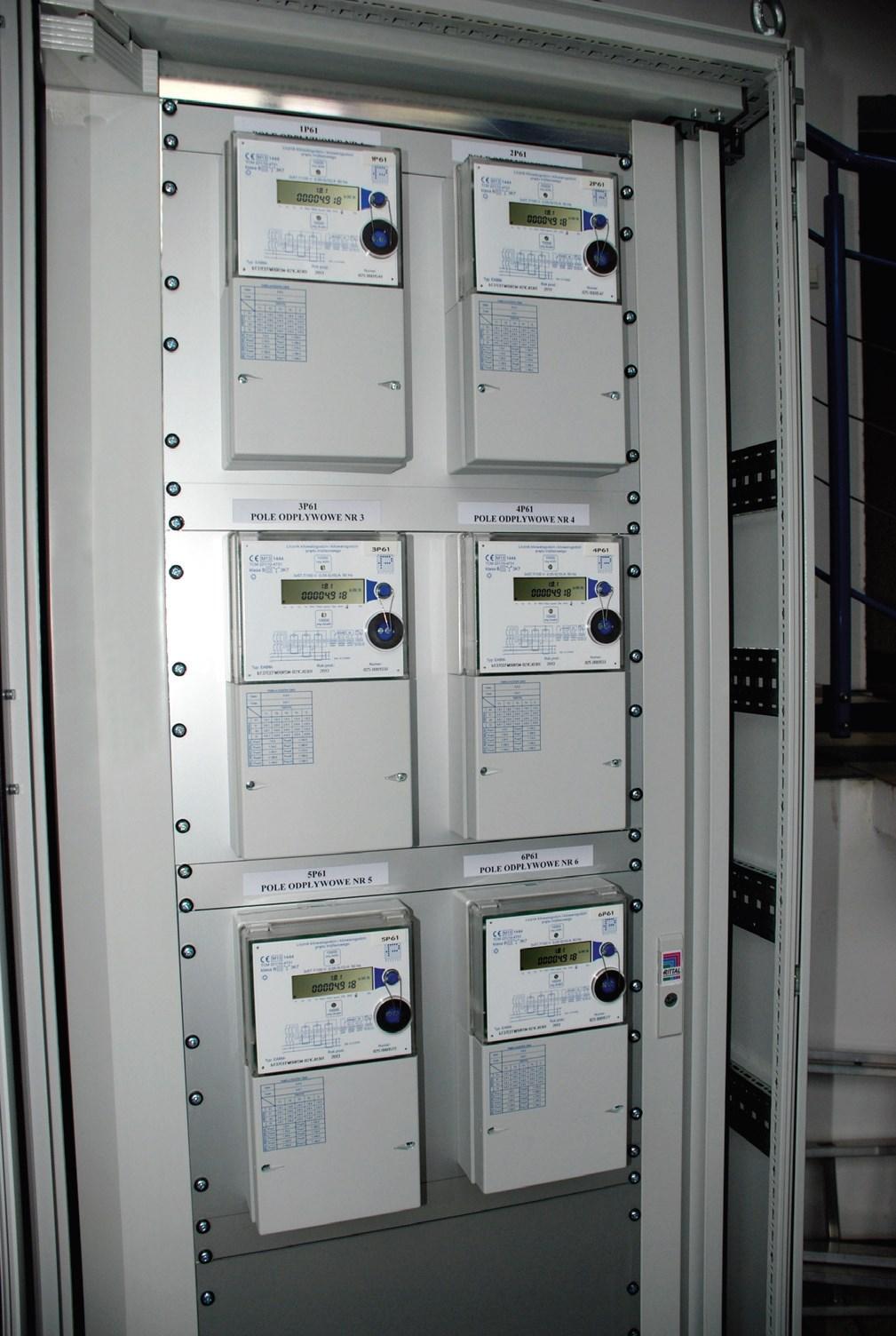 Рис.  10. Трехфазные и многозонные счетчики EABM в измерительной системе