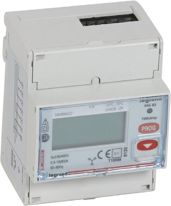Счетчик электроэнергии EMDX3 3-фазный, прямого измерения до 63А, с выходом RS485
