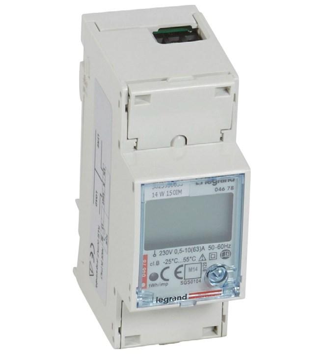 Счетчик электроэнергии EMDX3 1-фазный, прямого измерения до 63А, с импульсным выходом
